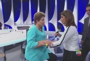Dilma passa mal ao vivo após debate no SBT 300x202 -  Após sentir-se mal no debate do SBT, Dilma divulga vídeo para dizer que está bem