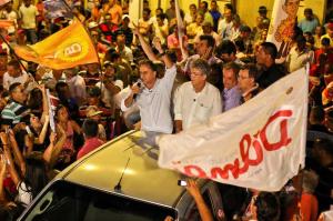 Lucelio Dilma Ricardo 300x199 - Lucélio Cartaxo participa hoje de comício com Dilma e Lula em Goiana PE