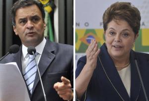 aecio neves e dilma rousseff 100116 300x204 - Debate da Globo marcado para o dia 24