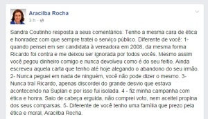 aracilba 300x172 - Aracilba Rocha rasga verbo contra irmã de Ricardo Coutinho e denuncia novo esquema de propina