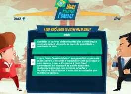 Game de luta entre Dilma e Aécio viraliza após debate feroz no SBT