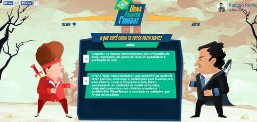 briga candidatos - Game de luta entre Dilma e Aécio viraliza após debate feroz no SBT