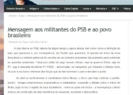 Presidente do PSB apoia Dilma em nota e diz que partido trai luta de Campos