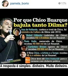 chico 269x300 - Primeira dama diz que alianças de Dilma são oportunistas, sugere voto em Aécio e é questionada sobre voto para governador