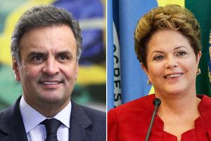 dilma aecio 300x200 - Nova pesquisa traz Aécio com 54,8% e Dilma recebe 45,2% das intenções de votos