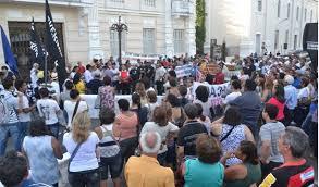 protestoforum1 - CONTRADIÇÕES: TRE DECIDE, O FORUM DOS SERVIDORES  PODE PROTESTAR MAS NÃO PODE CRITICAR, MULTA É DE 200 MIL