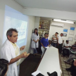 Dr. Paulo tambem comentou sobre a importancia de se realizar o preventivo 150x150 - Alunas do Unipê realizam palestra sobre câncer de próstata para operadores da Unitrans