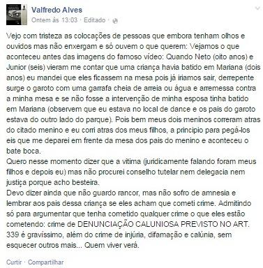promotor de Sousa - Caso do Campestre: Promotor dá sua versão da discussão através de publicações nas mídias sociais