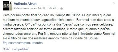 promotor de sousa 2 - Caso do Campestre: Promotor dá sua versão da discussão através de publicações nas mídias sociais