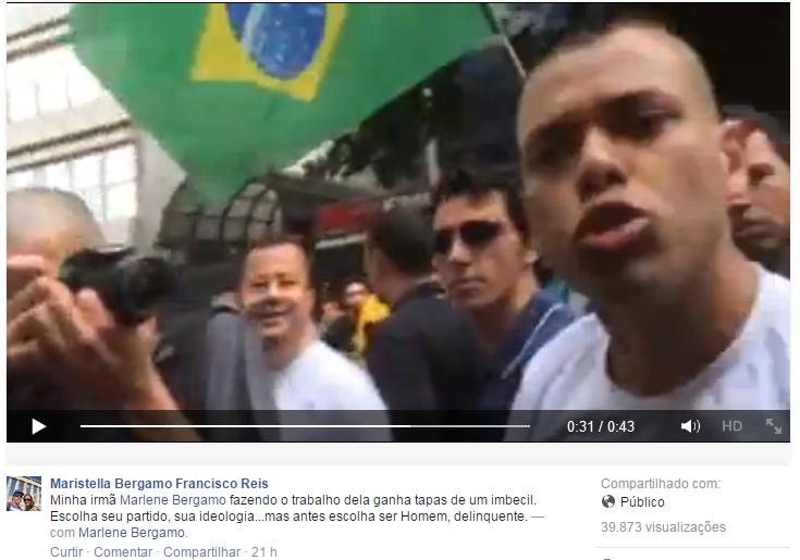 publicaçao reporter - Repórter denuncia agressão durante marcha realizada em São Paulo