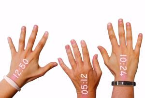 relogio do futuro 300x203 - Marca cria relógio que projeta a hora na mão