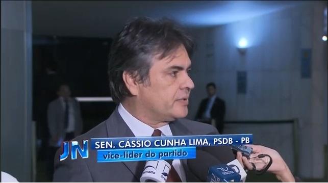 Cássio é destaque em matéria do Jornal Nacional sobre votação do Congresso do projeto que reduz meta fiscal do governo