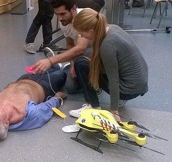 Drone  salva vidas e chega voando com desfibrilador