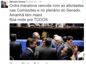 Saiba o que houve com twitter e facebook do senador Delcídio preso na lava jato