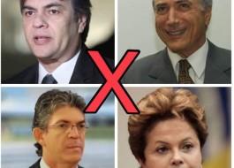 RICARDO/DILMA  X  CÁSSIO/TEMER: Cada um com seus motivos, a espera dos louros da vitória e cientes da rebordosa da derrota – Por Laerte Cerqueira
