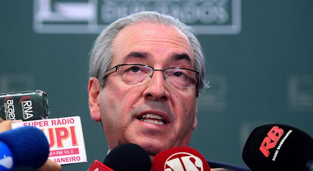 10/12/2015 - Brasília - Entrevista com o presidente da Câmara dos Deputados, Eduardo Cunha (Wilson Dias/Agência Brasil)