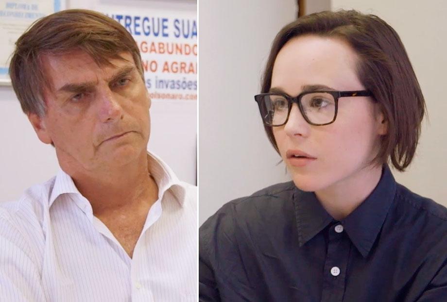 VEJA VÍDEO: Atriz Ellen Page entrevista Jair Bolsonaro no Rio de Janeiro
