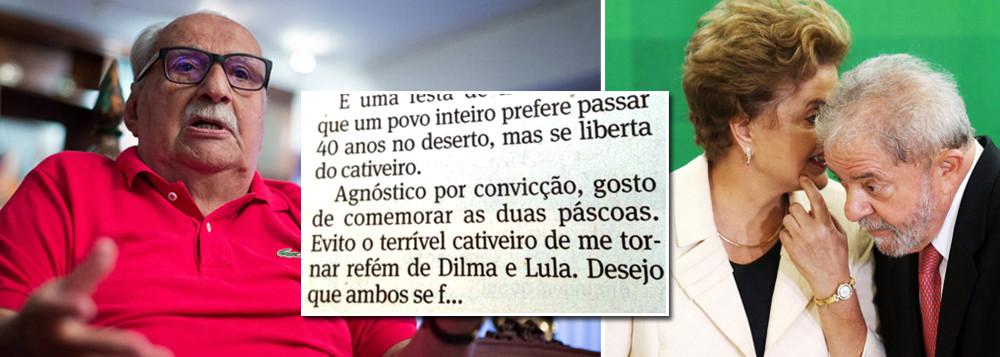Colunista da Folha xinga Dilma e Lula