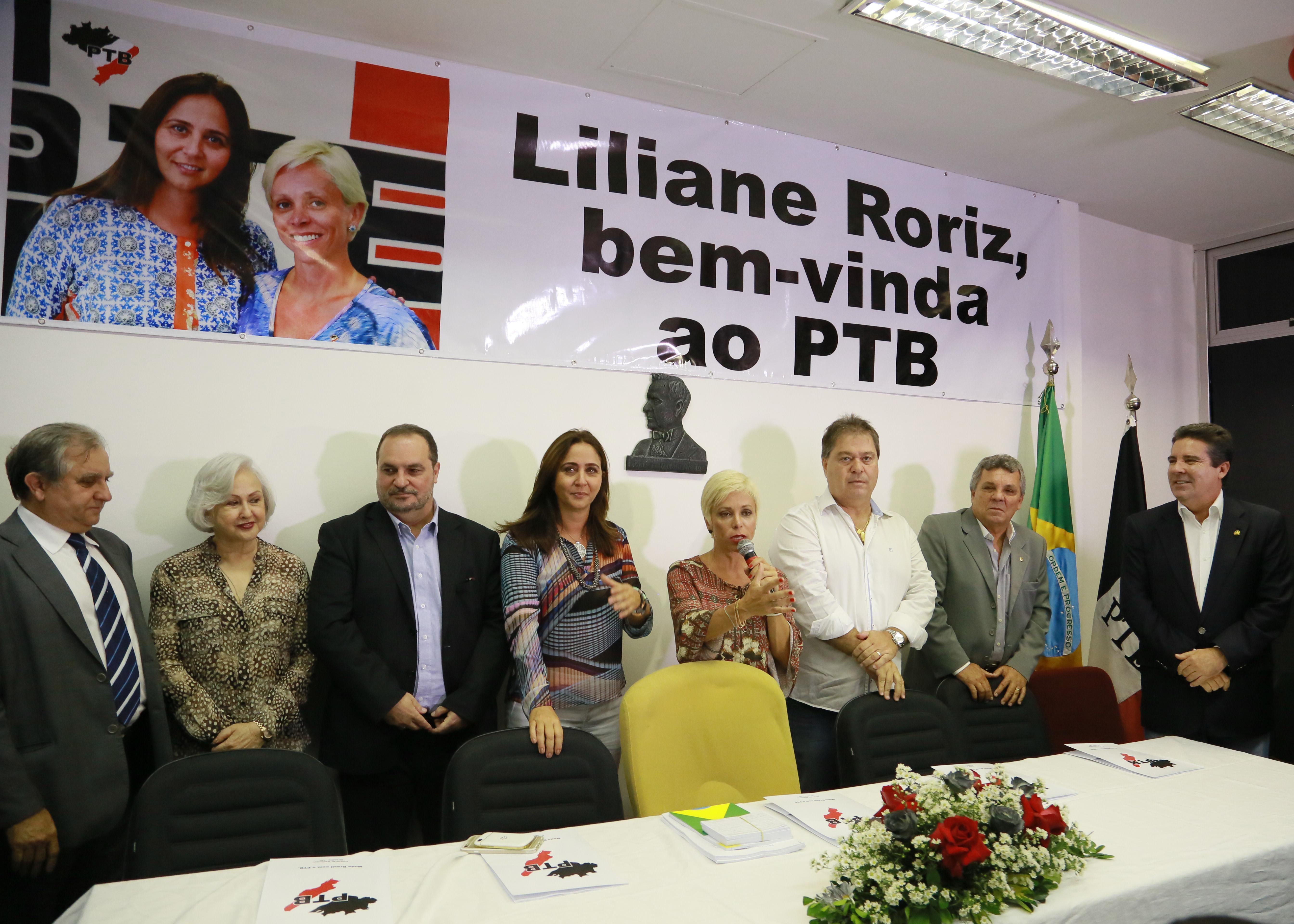 Presidente Cristiane Brasil abona filiação de Liliane Roriz e Tuma Júnior