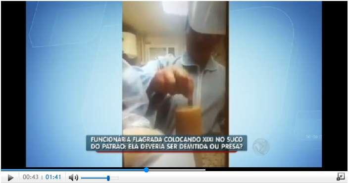 VEJA VÍDEO: Funcionária colocava urina no suco do chefe todos os dias, ele gravou tudo