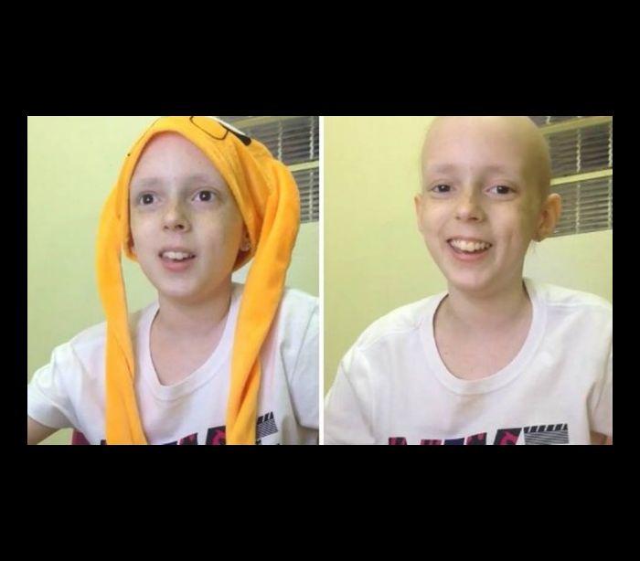 Garotinha com câncer que fez canal no Youtube para contar rotina recebe enxurrada de críticas