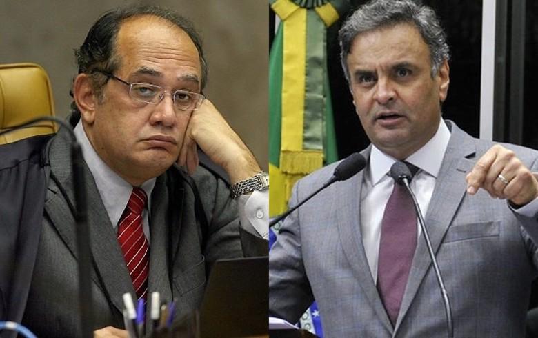 Gilmar Mendes é relator de ação contra Aécio Neves no STF