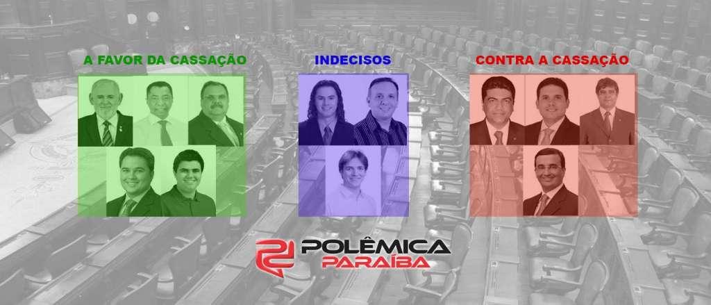 CASSAÇÃO DE CUNHA: Bancada paraibana está dividida, confira quem é contra e quem é a favor do 'malvado favorito'