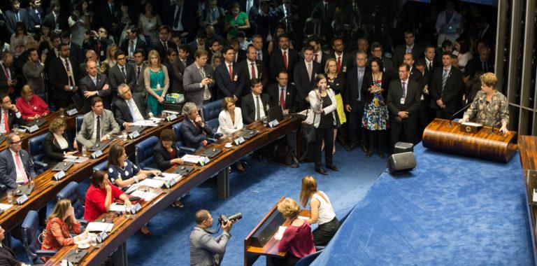 Brasília- DF 29-08-2016 Presidenta Dilma faz sua defesa no plenário do senado.  Foto Lula Marques/Agência PT