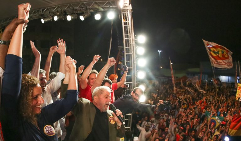 Rio de Janeiro- RJ- Brasil- 26/09/2016- Ex-presidente Lula, durante comício com Jandira Feghali, em Bangu, zona oeste da cidade.  Foto: Ricardo Stuckert/ Instituto Lula