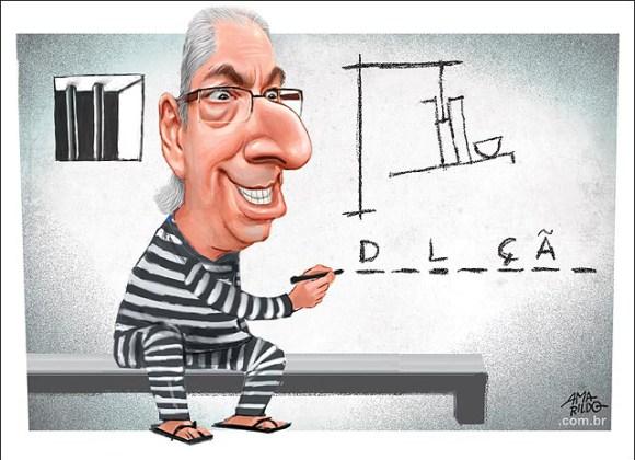 forca eduardo cunha - Eduardo Cunha reduz 8 meses de pena com curso de mestre de obras e resenha de livros