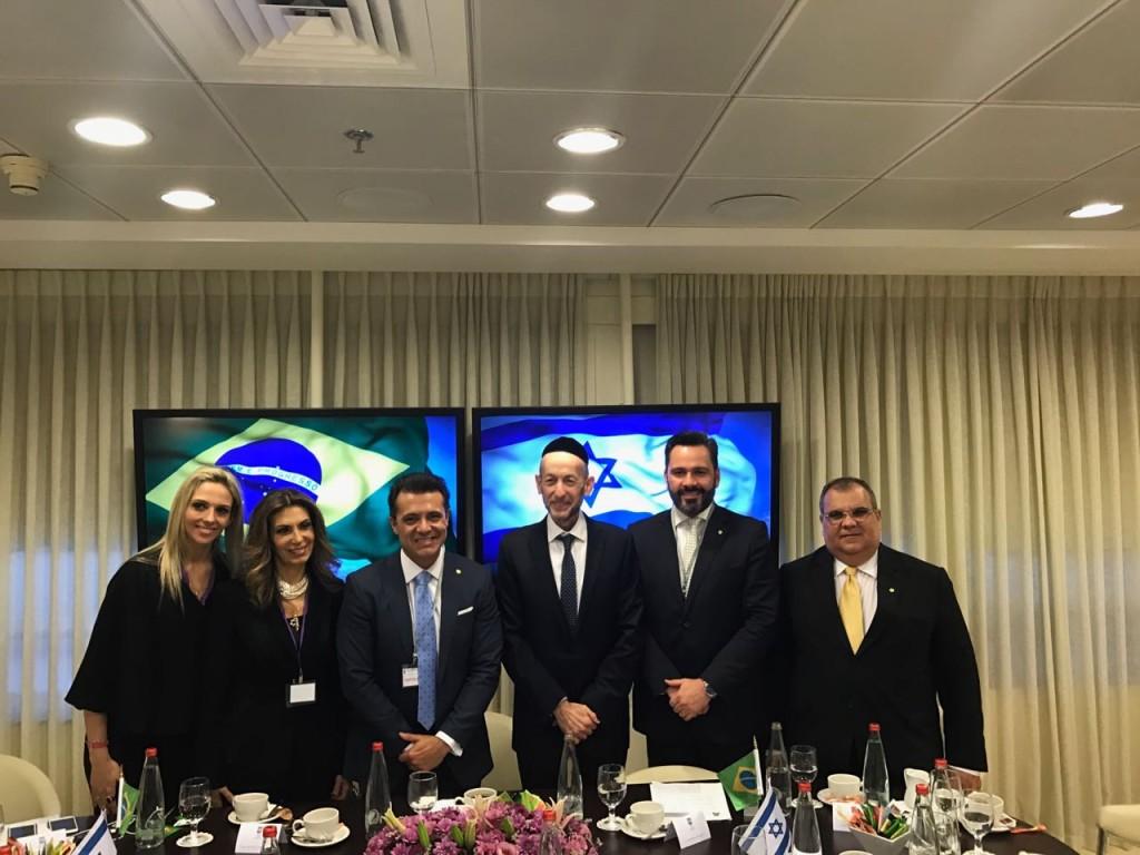 Em Israel: Rômulo Gouveia discute segurança e soluções hídricas com autoridades