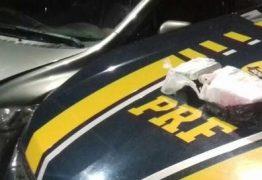 Passageiro de taxi é preso pela PRF em Mamanguape com cocaína, maconha e LSD
