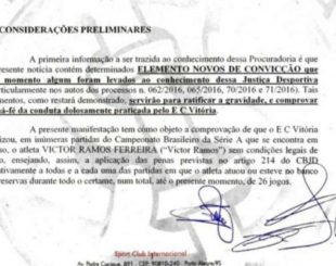 CBF denuncia ao MP suposta falsificação de documentos do Internacional