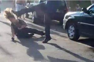 VEJA VÍDEO: Homem é preso após agredir mulher com socos e chutes em Minas Gerais