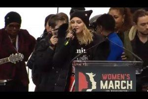 VEJA VÍDEO: Madonna é retirada do palco após mandar Trump chupar um pênis