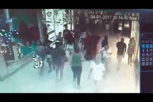 Vídeo mostra momento em que PM foi baleado em shopping do Rio
