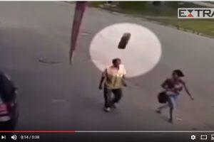 Imagens fortes – homem é atingido na cabeça por roda de carreta e sobrevive – VEJA VÍDEO