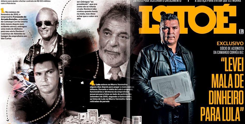 Lula pede R$ 1 milhão de indenização por capa da Isto É sobre mala de dinheiro