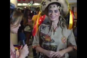 Daniela Ribeiro mostra em São Paulo que tem samba no pé – VEJA VÍDEO