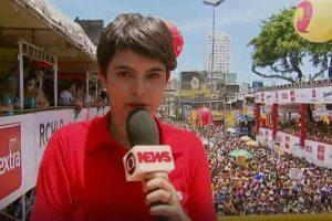 Repórter tem celular furtado durante transmissão do carnaval de Recife