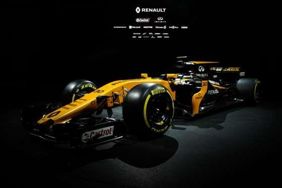 Renault apresenta modelo com pintura dourada para a temporada 2017 da F1