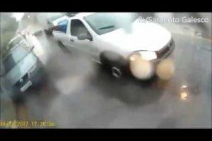 VEJA VÍDEO: Homem filma o momento em que é assaltado e agredido por ladrões