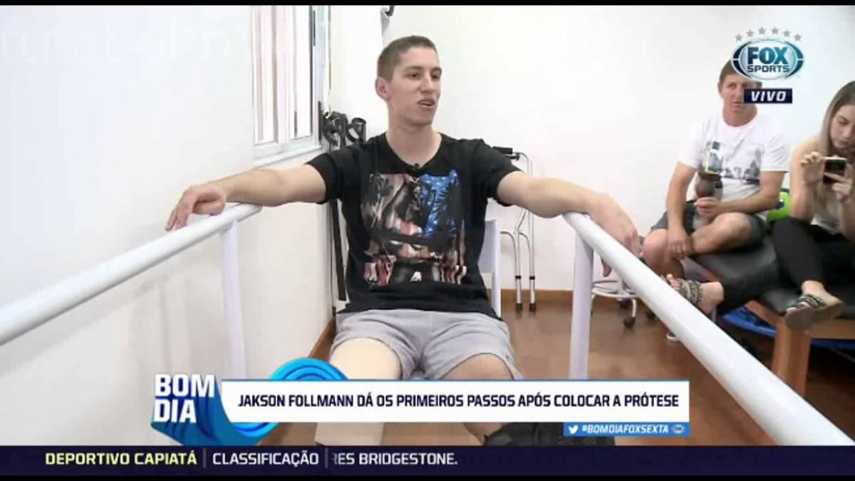 VEJA VÍDEO: Jackson Follmann coloca prótese e já começa a andar