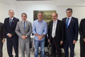 Luciano Cartaxo recebe visita do atual presidente do TRF-5ª Região e da nova Mesa Diretora