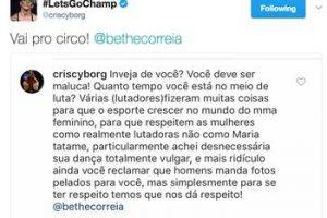 Lutadoras brasileiras batem boca nas redes sociais