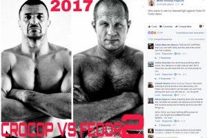 Através das redes sociais Cro Cop desafia Fedor para última luta