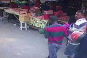 VEJA VÍDEO – Câmera flagra momento em que homem é morto a tiros em feira livre