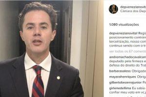 """Deputado Veneziano se justifica nas redes sociais: """"votamos contra a terceirização…"""" VEJA VÍDEO"""