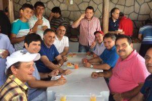 Luciano Cartaxo está hoje em Jacaraú, a convite do prefeito Elias Costa e mais três prefeitos