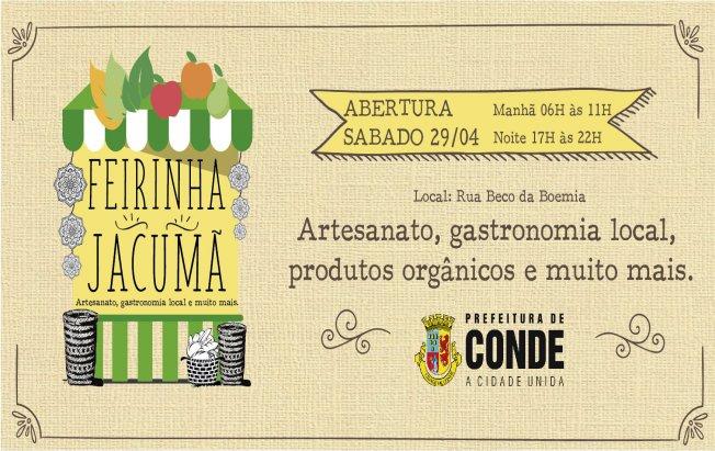 feirinha jacumã - Jacumã recebe feira com culinária, artesanato e shows culturais